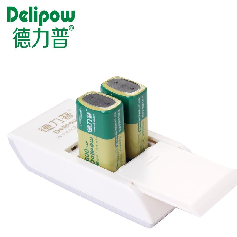 德力普 9V充電電池 鋰電 9V鋰電池充電套裝 無線話筒電池800毫安