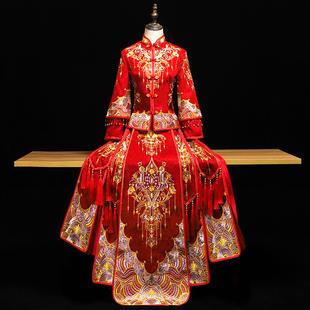 秀禾服新娘2020新款结婚出阁服婚纱中式新娘服秀和服女中国风秀禾