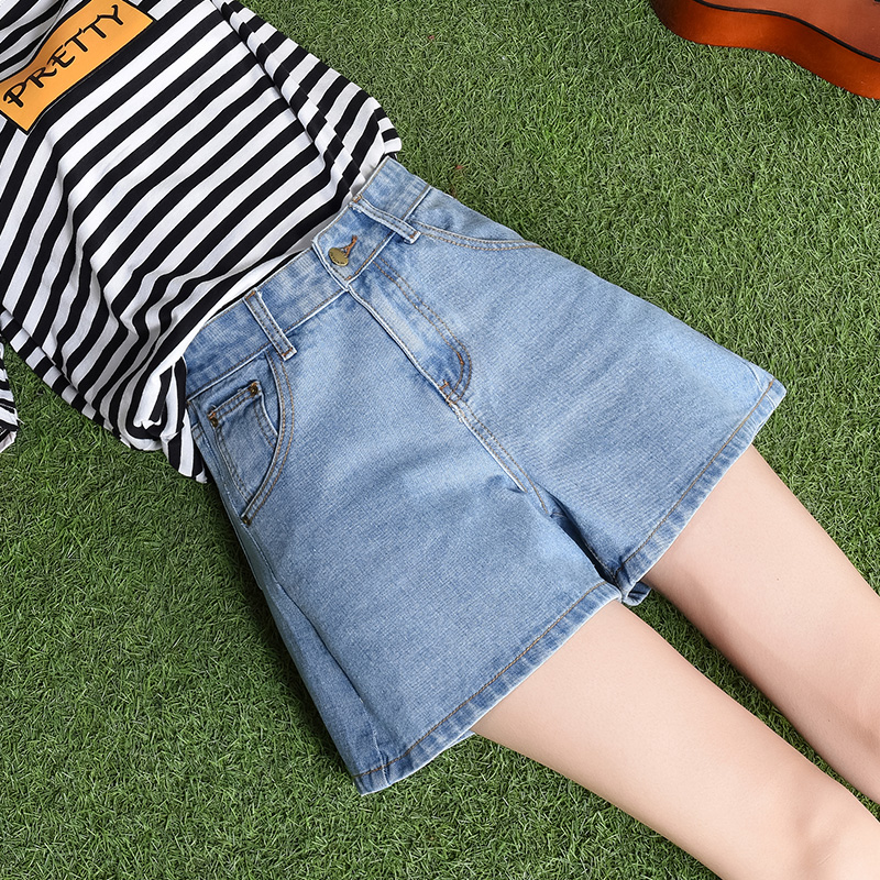 纯棉牛仔短裤女夏裤子A21T时尚女裤森马女装休闲短裤阔腿裤显瘦潮
