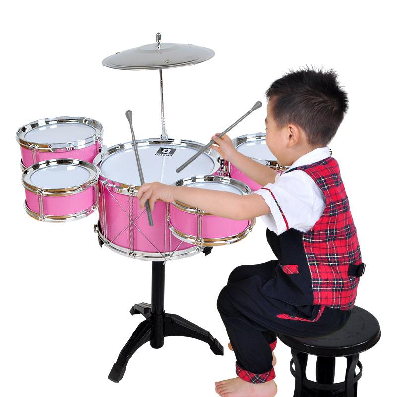 俏娃寶貝兒童架子鼓爵士鼓音樂玩具打擊樂器男寶寶早教益智3~6歲1
