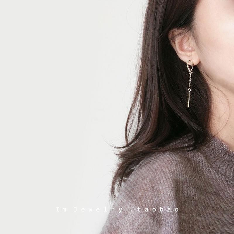 韩国2019新款潮简约气质百搭女耳环满3元可用3元优惠券
