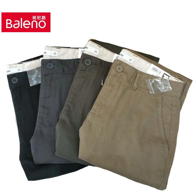 班尼路2020春夏新款青年男装时尚纯棉优质简约修身休闲裤88012022