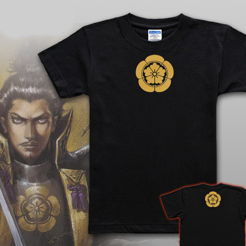 Customized clothes for men and women couples clothes of the Warring States period matchless warrior pure cotton T-shirt 2020 new short sleeve Shinzo ODA family emblem