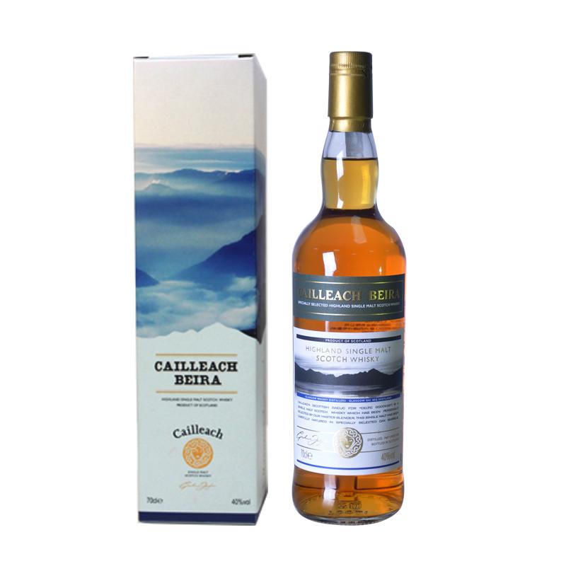 スコットランド原瓶輸入洋酒凱琦(CAILLLEACH)ベラ女神単一麦芽ウイスキー700 ml