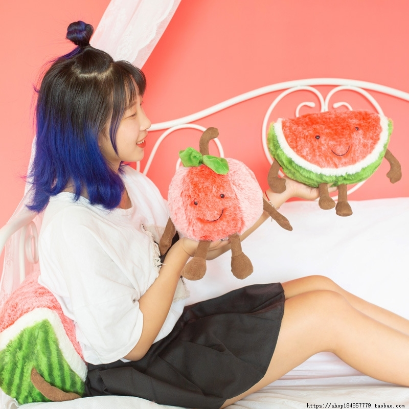 Creative expression new watermelon cherry plush toy doll