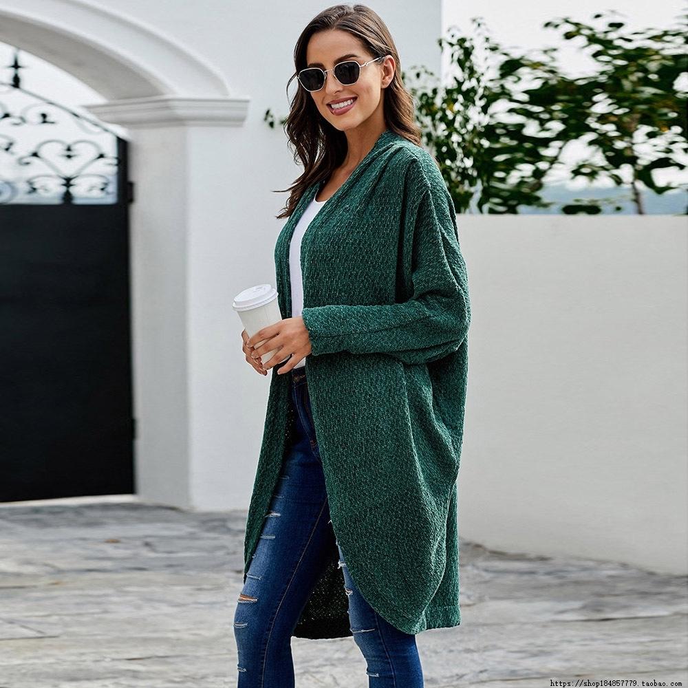 Hot style medium length cardigan sweater winter bat long