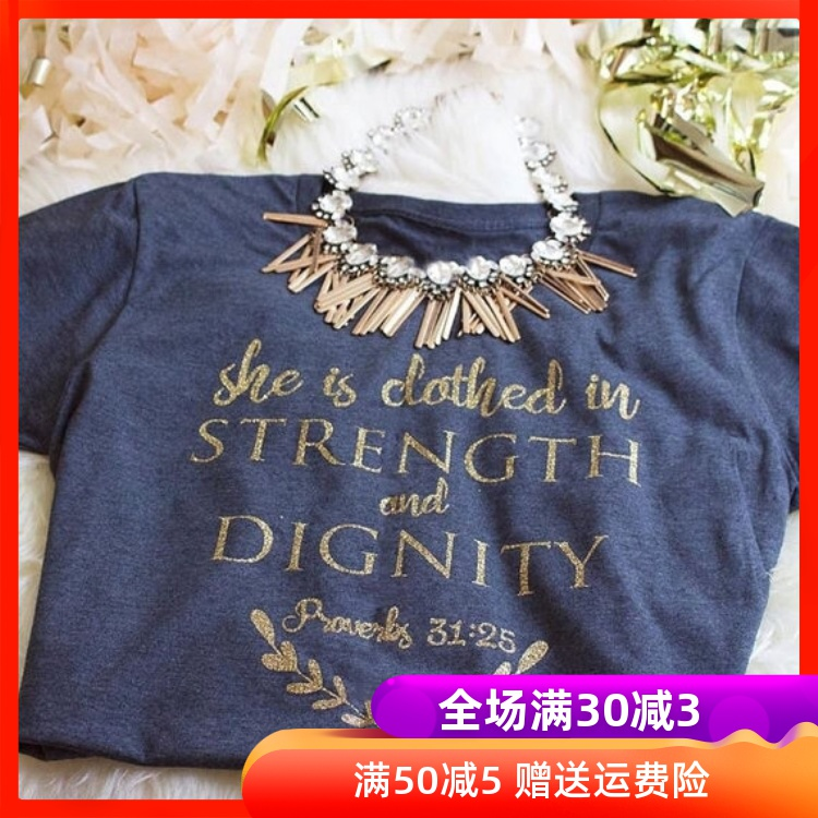 She is Clothed in Strength and Dignity cross-border female