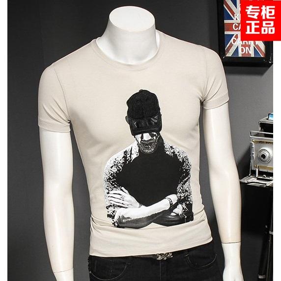 包邮JustLong臻杰龙夏季短袖男士打底修身男装青年纯棉T恤