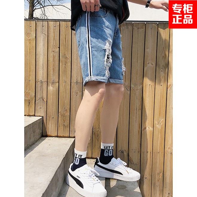 裤子韩版合体直筒直脚大码牛仔裤夏季男士短裤常规JustLong臻杰龙