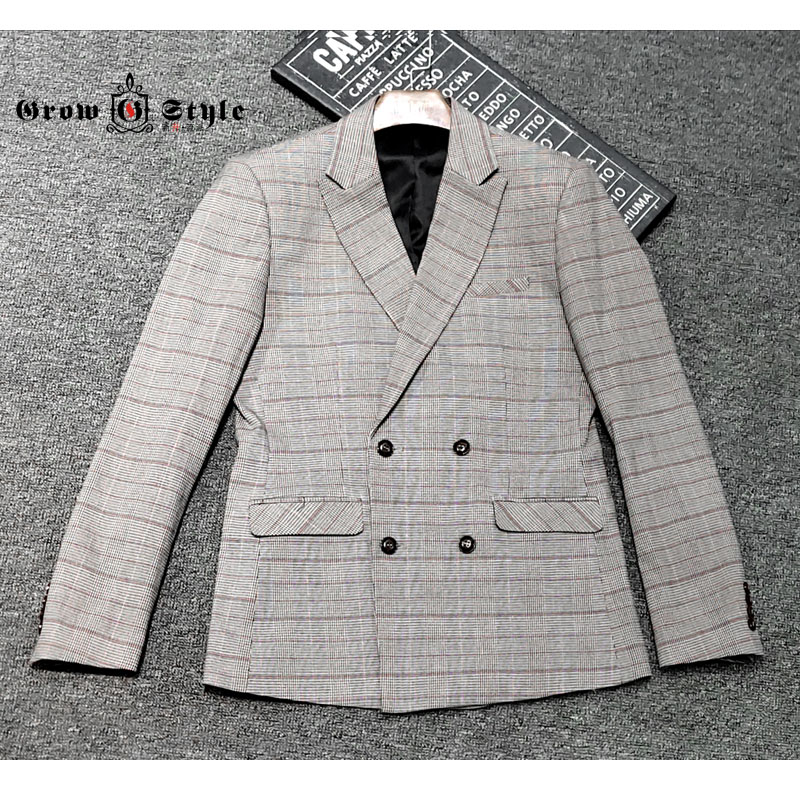 New style double breasted casual suit for men