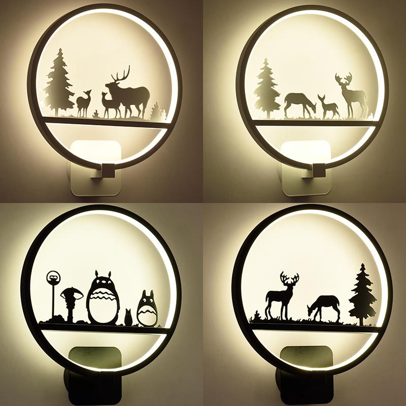 北欧壁灯床头灯卧室简约现代创意个性过道楼梯儿童房客厅背景墙灯