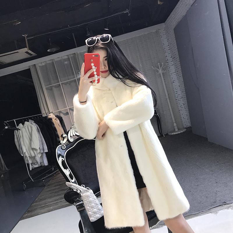 Mink fur coat in autumn and winter
