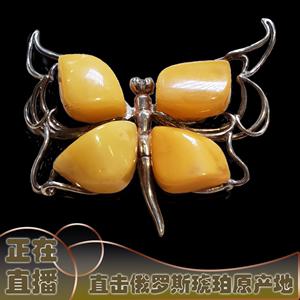 艾蜜罗琥珀定制雕刻摆件鸡油黄老蜡