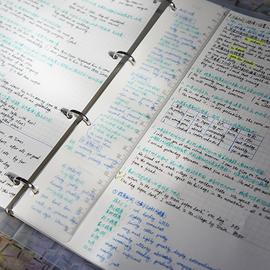 大多地方一件包邮【A4四孔用】PP磨砂活页本笔记本方格本康奈尔图片