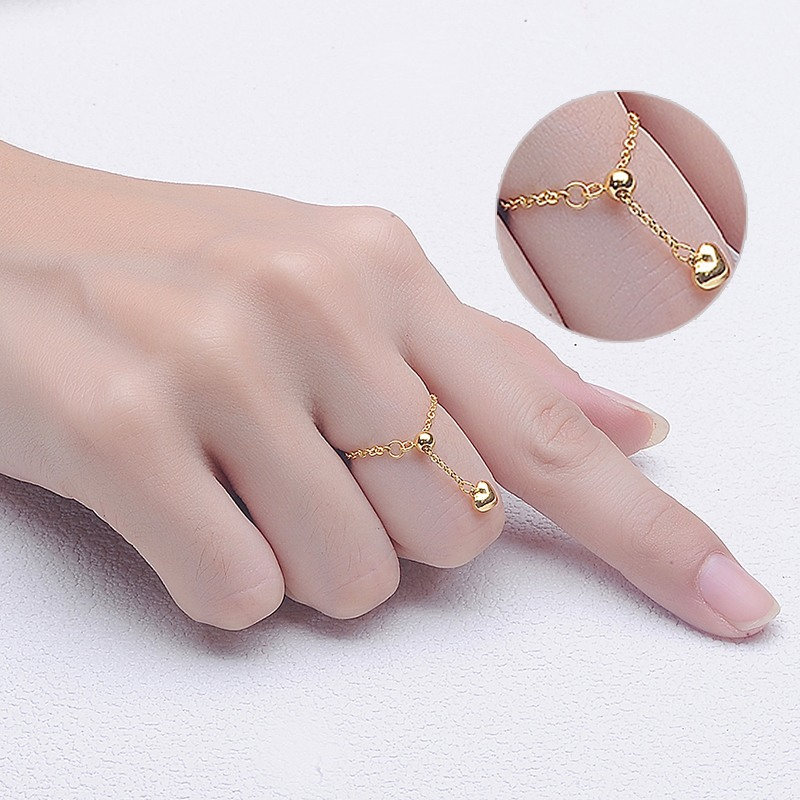 Gold ring full gold 999 transfer bead ring gold ring gold tail ring gold ring children's adjustable opening