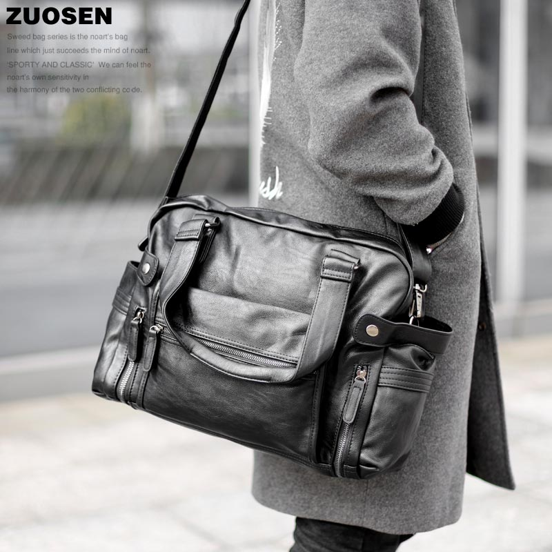 Zuoshen new mens bag popular mens handbag Leisure Bag Fashion Korean mens bag large bag shoulder bag