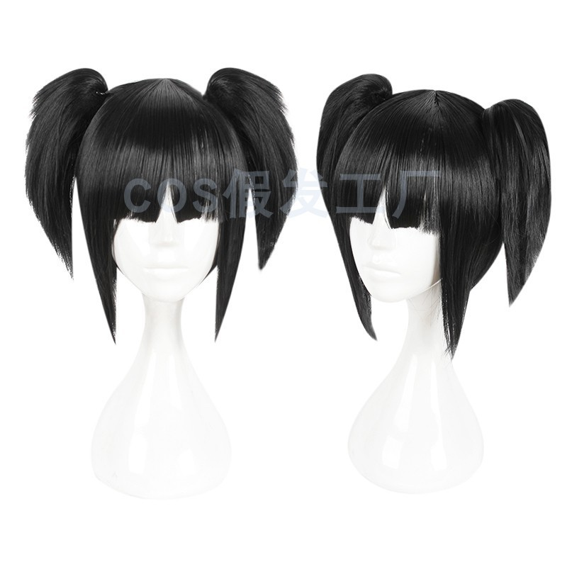 Cos wig factory back street girl Shanyuan Qianjia small Hukou Mawei detachable Cosplay animation prop package
