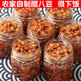湖南特产腊八豆 香辣下饭菜 瓶装农家自制辣八豆瓣酱 豆豉辣椒酱