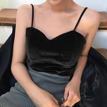 金丝绒小吊带女2020秋冬韩版大码性感百搭裹胸背心修身内搭打底衫
