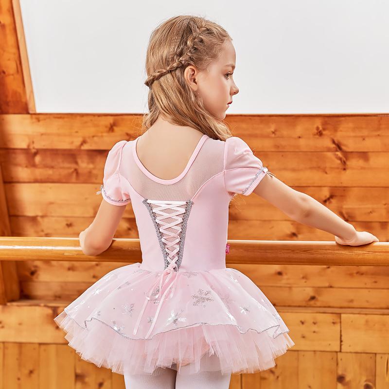 2020夏儿童纯棉舞蹈服女童练功服幼儿表演服艾莎公主芭蕾舞裙1993