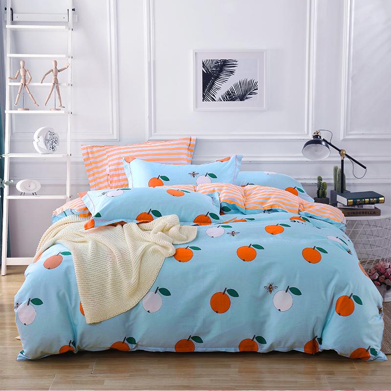 冬冬宝全棉纯棉四件套简约床单被套学生宿舍北欧风格4件床上用品