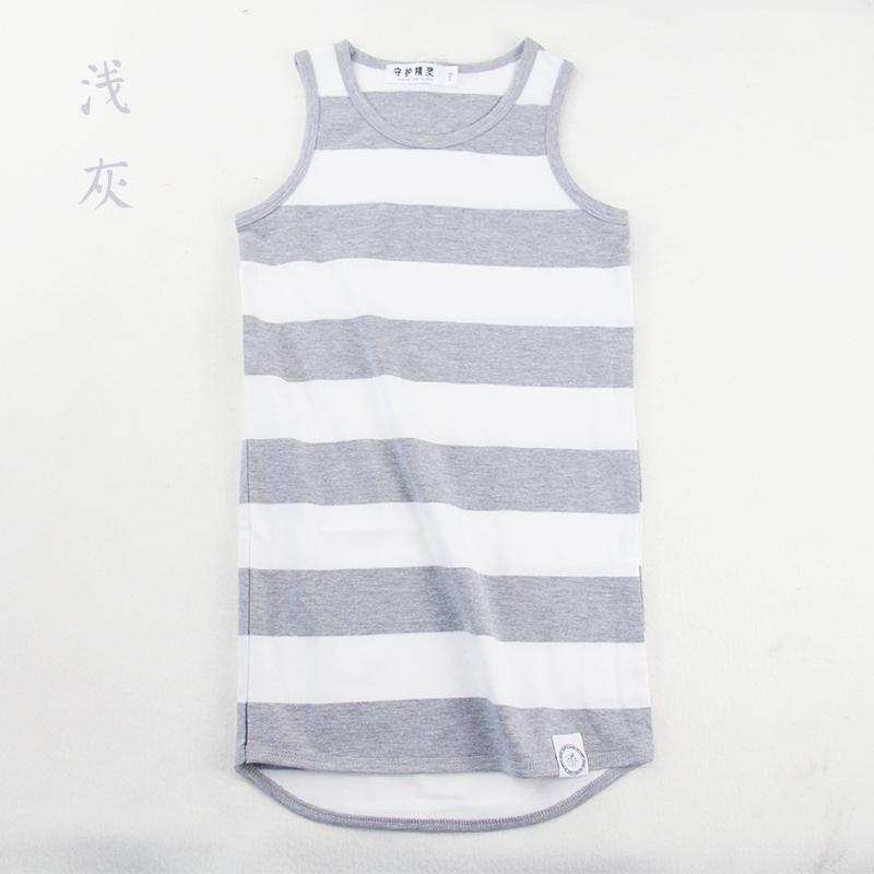直播◆守护精灵品牌折扣女童直筒连衣裙子简单条纹纯棉透气吸汗夏