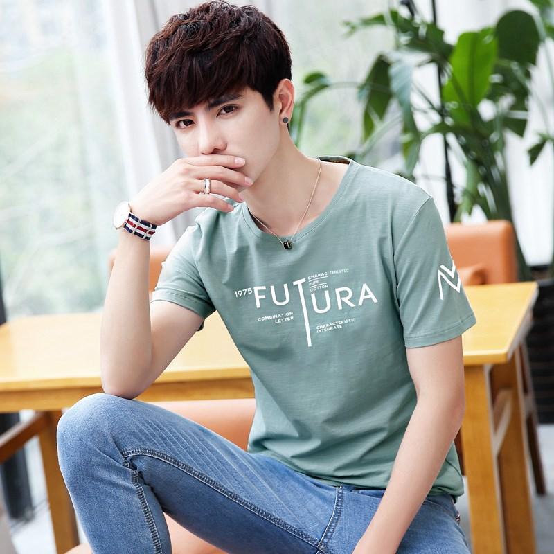 夏季新款9.9元包邮特价纯棉短袖T恤男青少年学生修身衣服半袖体恤