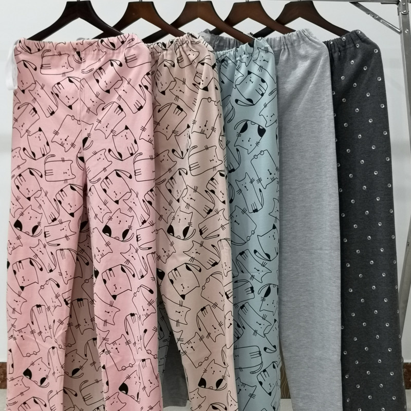 Pregnant womens trousers adjustable autumn trousers cotton trousers all cotton household trousers postpartum delivery trousers pregnant pajamas