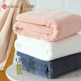 洁丽雅浴巾纯棉成人家用吸水速干不掉毛男女学生宿舍毛巾加厚裹巾图片