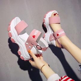 厚底凉鞋女仙女风ins潮2020夏季新款坡跟内增高运动老爹罗马潮牌