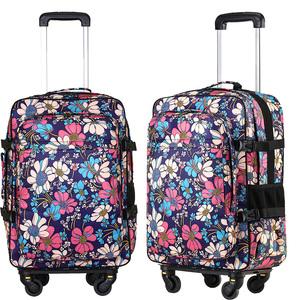 新品双肩拉杆包多功能防水女行李箱