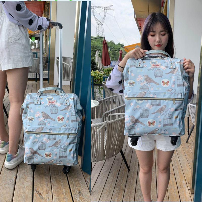 20寸防水印花手提万向轮拉杆包旅行箱包短途行李袋拉杆箱女登机箱