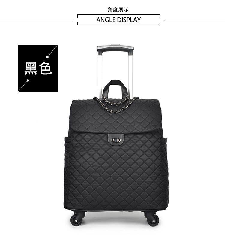 旅行箱网红拉杆箱布箱女登机箱轻便小行李箱手提拉杆包防水20寸潮