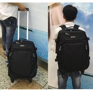 新品双肩拉杆包背包大容量防水旅行袋万向轮可拉可提可背行李箱包