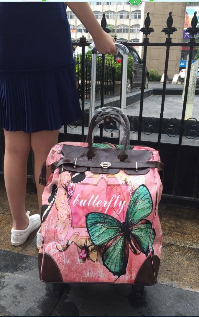 20寸登机防水英伦手提万向轮拉杆包旅行箱包短途行李袋拉杆箱女包