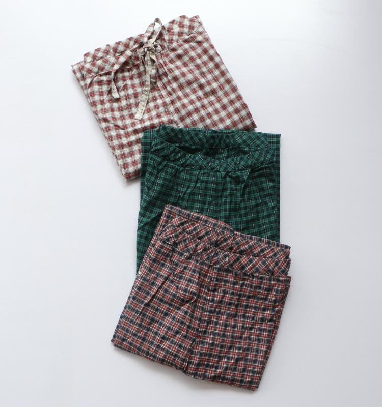 外元 优衣女装 梭织薄款家居长裤 睡裤
