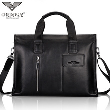 Zhuofen Armani leather handbag for men soft top leather locomotive bag large capacity single shoulder messenger bag for men
