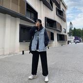 牛仔马甲外套女2021新款韩版学生百搭宽松背后刺绣无袖马夹背心潮