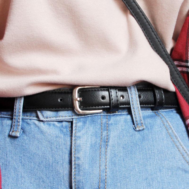 皮带女士休闲百搭简约黑色细腰带韩版西装衬衫装饰连衣裙裤带学生