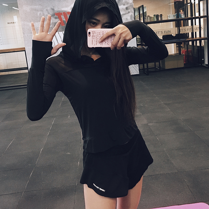 Wild Yuge sports shorts loose oversized lotus leaf shorts womens light proof lining for quick dry running