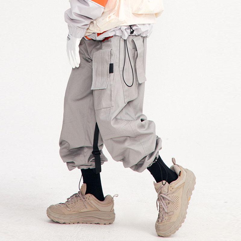 【FLAM 官方网店】嘻哈潮牌国潮FYP工装裤男多口袋长款束脚休闲裤