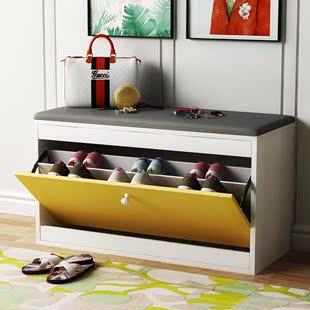 小型进门口换鞋凳柜超窄17cm超薄入门鞋柜入户带座换鞋凳式可坐柜