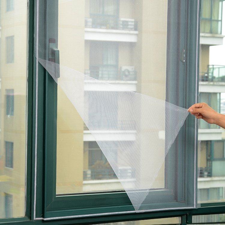 防蚊纱窗 隐形纱窗网 DIY自粘型非磁性纱窗纱网自带魔术贴沙窗帘
