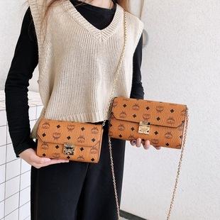 斜挎包包女2020新款潮韩版百搭时尚潮流个性夏天单肩链条手包小包图片