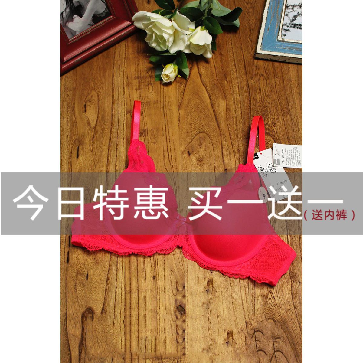 荷兰  性感荧光桃红色 蕾丝边 薄款海绵杯 欧美文胸内衣P9