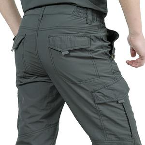 夏季户外速干裤男直筒宽松冲锋长裤