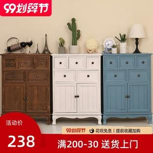 五斗橱客厅柜子储物柜简约现代抽屉式 斗柜实木卧室特价 整装 收纳柜
