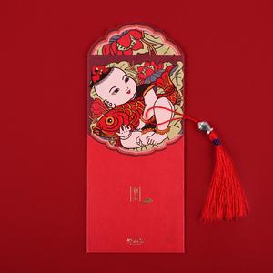 领10元券购买烟雨集 2019新年创意红包个性送礼利是封过年满月礼红包袋 10个装