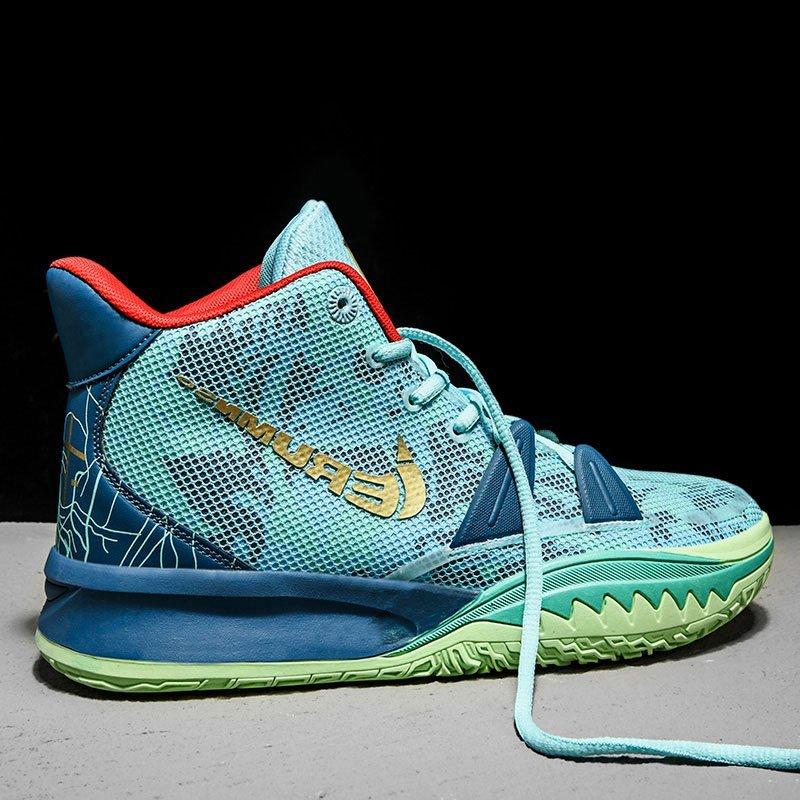 Owen 7 mandarin duck basketball shoes high top mens shoes have a sound