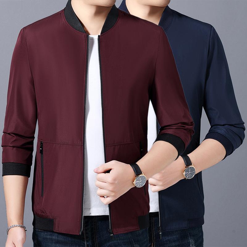 Middle aged mens jacket Nan casual mens thin coat 30 more than 40 mens jacket 50 business mens 60